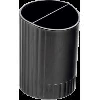 Підставка для ручок пластикова на 2 відділення (чорний) bm.6350-01