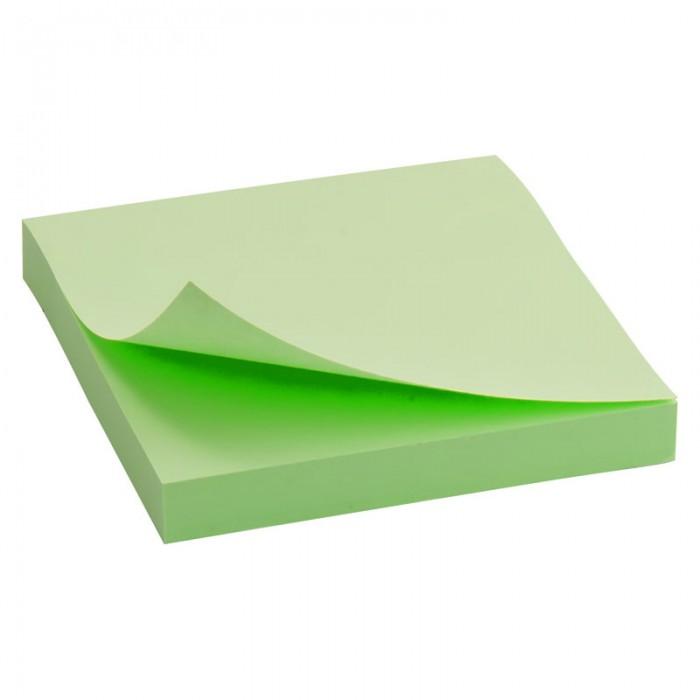 Блок паперу з клейким шаром 75х75мм. зелений  D3314-02