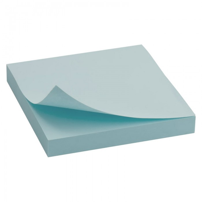 Блок паперу з клейким шаром 75х75мм. синій  D3314-04