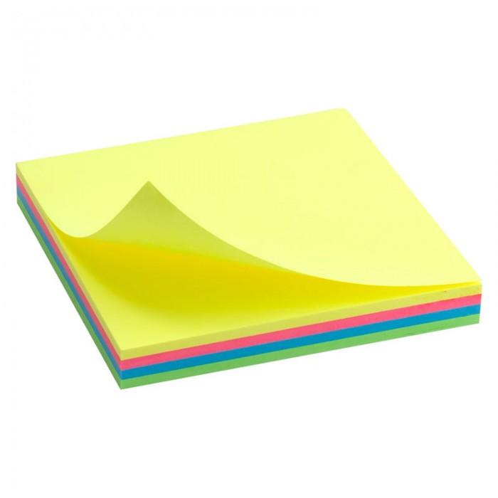 Блок паперу з клейким шаром 75х75мм. неоновий  D3325-02