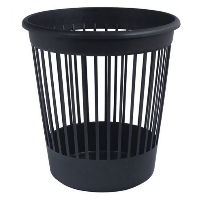Корзина для бумаги с прорезями (черная)  D4018-01