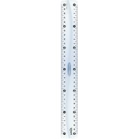 Лінійка пластикова 20см, двостороння шкала з тримачем  MP.146108
