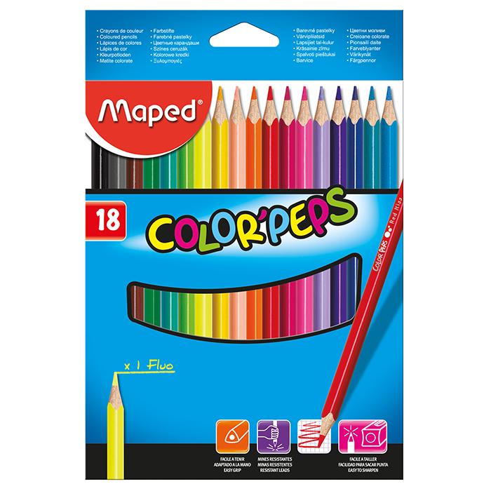 Карандаши цветные Color Peps Classic (18 цветов) MP.183218