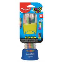 Карандаши цветные в раздвижном боксе Color Peps Flex Box (12 цветов)  MP.683212