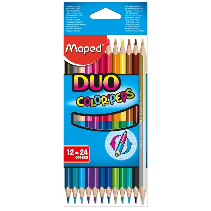 Карандаши цветные Color Peps Duo (12/24 цветов) MP.829600