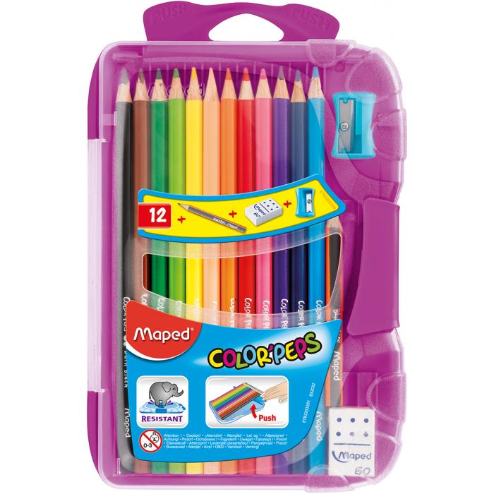 Карандаши цветные Color Peps Smart Box (12цв+3предмета.) MP.832032