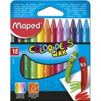 Мелки восковые COLOR PEPS Wax Crayons (12цв)  MP.861011