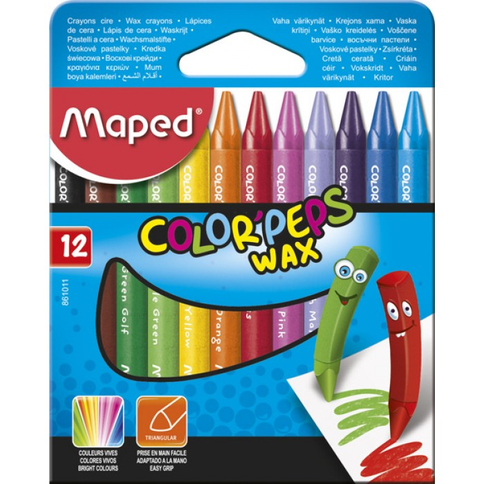 Крейда воскова COLOR PEPS Wax Crayons (12кол)  MP.861011