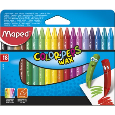 Крейда воскова  COLOR PEPS Wax Crayons (18кол)  MP.861012