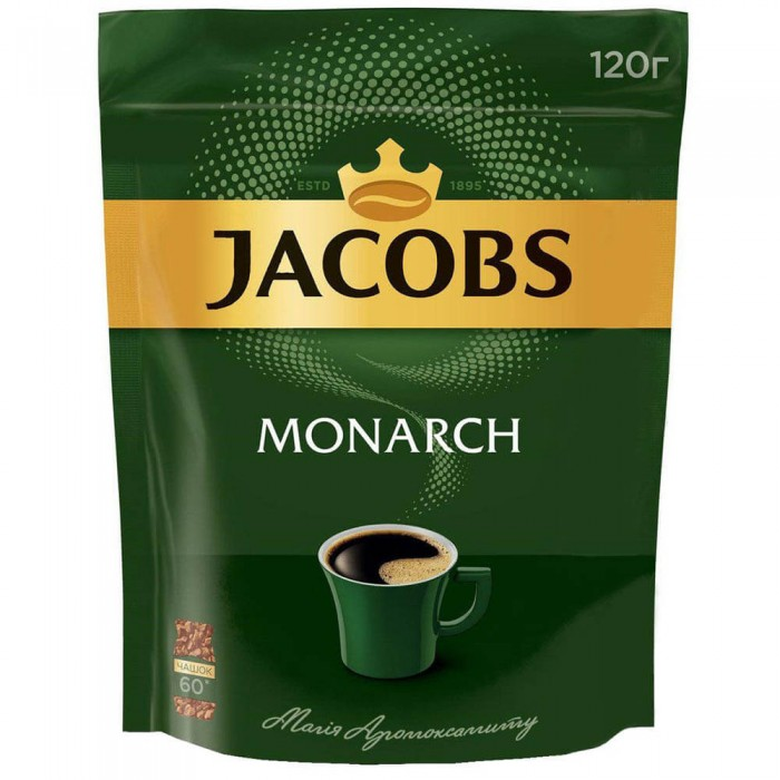 Кофе растворимый Jacobs Monarch, 120гр,  пакет