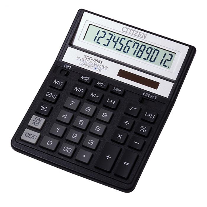 Калькулятор CITIZEN SDC-888XBK (черный) , 12 разрядов