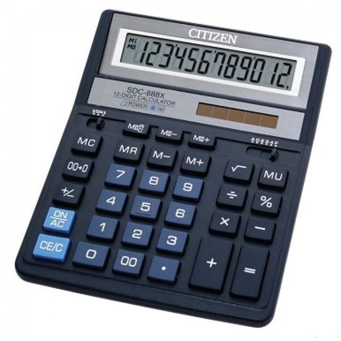 Калькулятор CITIZEN SDC-888XBL (синий) , 12 разрядов