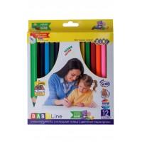 Олівці кольорові JUMBO (12 кольорів)  ZB.2452
