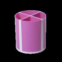 Підставка для ручок Твістер на 4 відділення (рожевий) ZB.3003-10