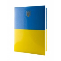 Папка до підпису Герб А4 (жовто-блакитна)