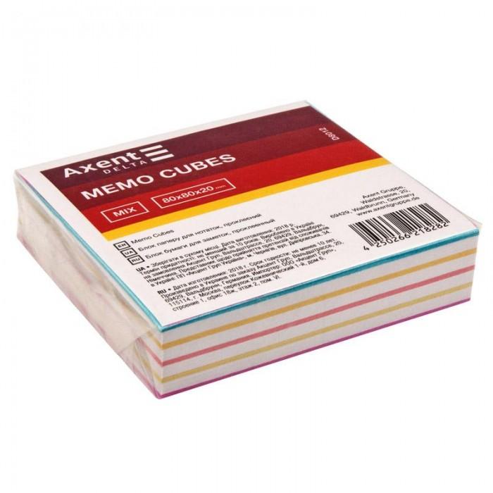Блок бумаги для записей 8х8х2см (склеенный) D8012