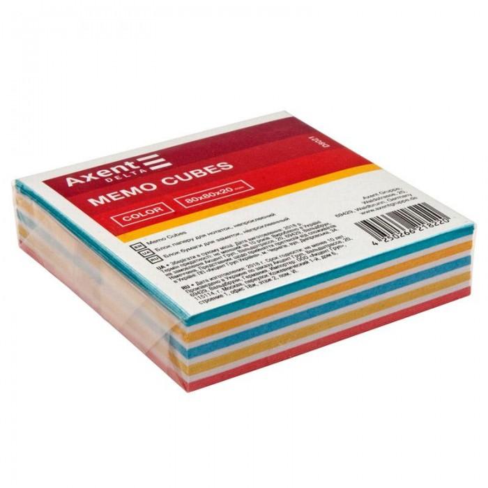 Блок паперу для записів Color 8х8х2см (не склеєний) D8021