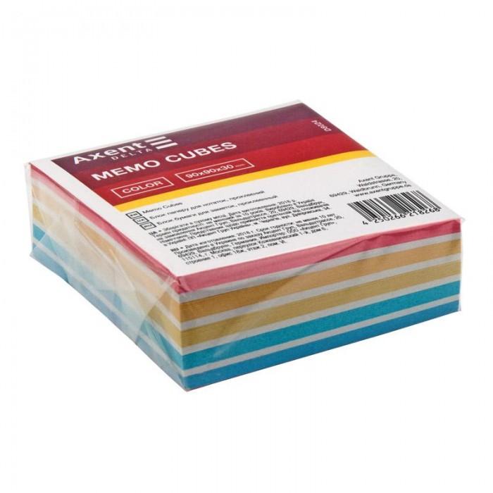 Блок бумаги для записей Color 9х9х3см (склеенный) D8024