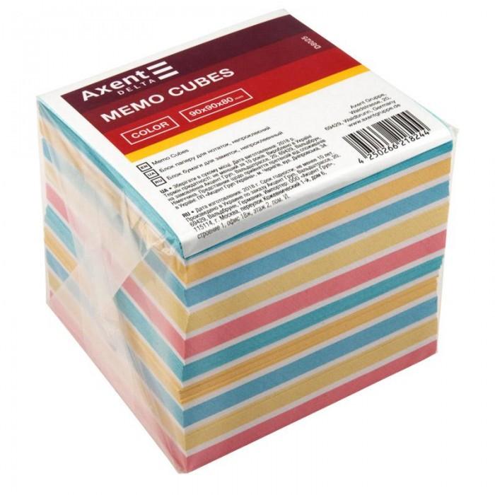 Блок бумаги для записей Color 9х9х8см (не склеенный) D8025
