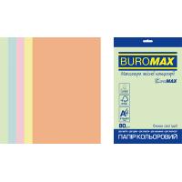 Папір кольоровий Euromax Pastel Mix (5 кольорів) А4, 80г/м2, 250арк