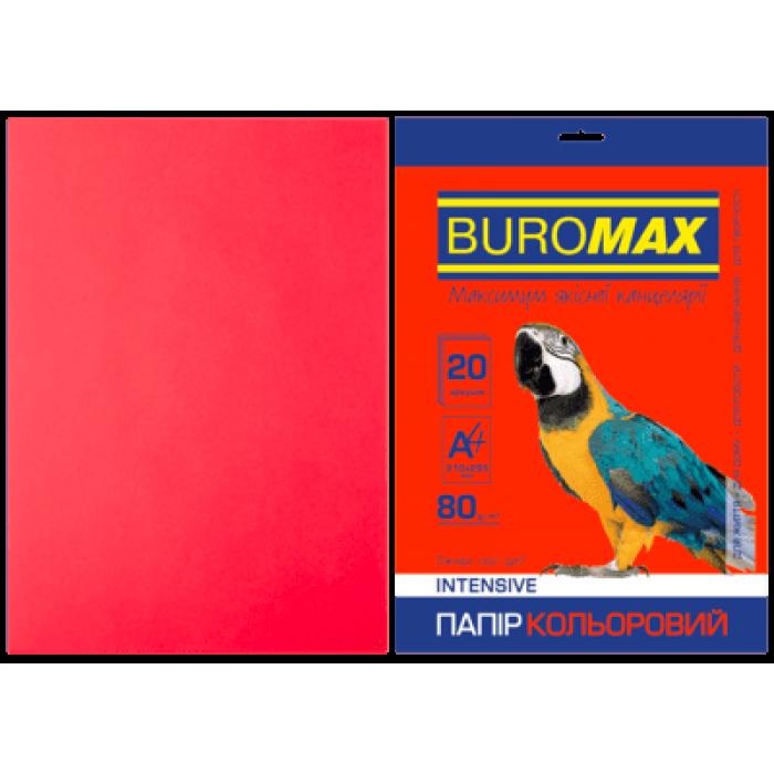 Бумага цветная Intensiv (красный) А4, 80г/м2, 20л.