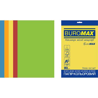 Бумага цветная Euromax Intensiv Mix (5 цветов) А4, 80г/м2, 250л