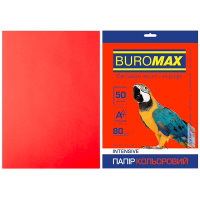 Папір кольоровий Intensiv (червоний) А4, 80г/м2, 50арк.