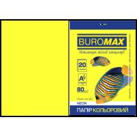 Папір кольоровий Neon (жовтий) А4, 80г/м2, 20арк.