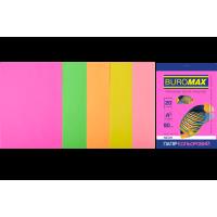 Папір кольоровий Neon Mix (5 кольорів) А4, 80г/м2, 20арк.