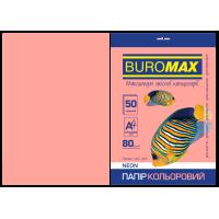 Бумага цветная Neon (розовый) А4, 80г/м2, 50л.