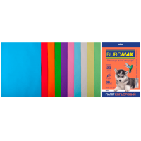 Папір кольоровий Pastel+Intensiv (10 цветов) А4, 80г/м2, 20л.