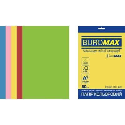Папір кольоровий Euromax Intensiv Mix (5 кольорів) А4, 80г/м2, 20арк.