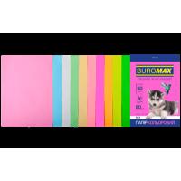 Бумага цветная Pastel+Neon (10 цветов) А4, 80г/м2, 50л.