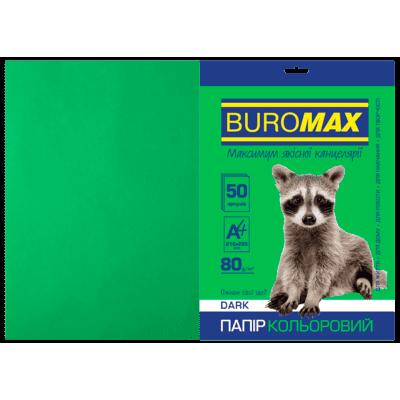 Папір кольоровий Dark (темно-зелений) А4, 80г/м2, 50арк.