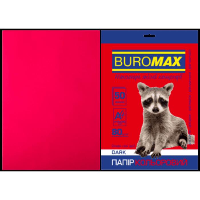 Бумага цветная Dark (бордовый) А4, 80г/м2, 50л.