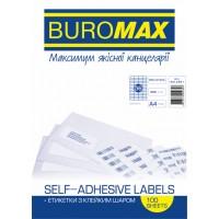 Етикетки самоклеючі 52,5х21,2мм (56шт/арк) bm.2861