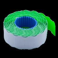 Цінник фігурний, внутрішнє намотування 22х12мм (зелений) 1000шт./12м