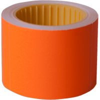 Цінник прямокутний, зовнішнє намотування 50х40мм (помаранчевий) 100шт./4м
