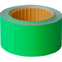 Ценник прямоугольный, внешняя намотка 30х40мм (зеленый) 150шт./4,5м