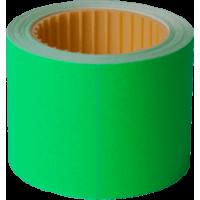 Ценник прямоугольный, внешняя намотка 50х40мм (зеленый) 100шт./4м