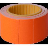 Цінник прямокутний, зовнішня намотка 30х20мм (помаранчевий) 150шт./4,5м