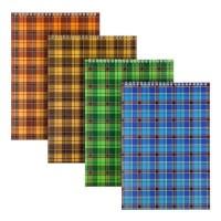 Блокнот А4, 48 листов (верхняя спираль) ассорти D8013-01