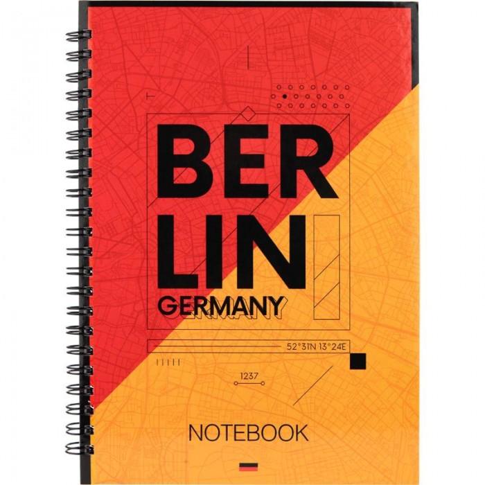 Блокнот для записей Berlin А5, 96л. (боковая спираль) 8032-05-A