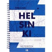 Блокнот для записей Helsinki А5, 96л. (боковая спираль) 8032-06-A