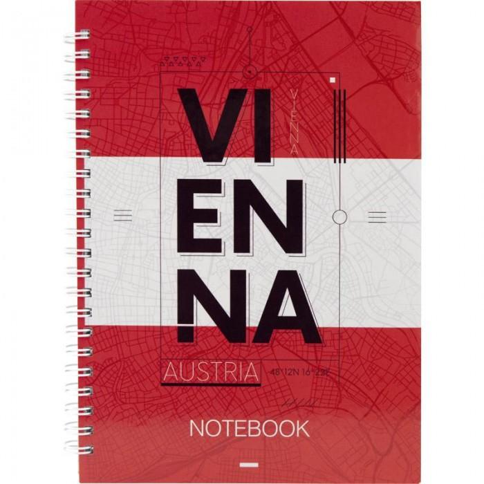 Блокнот для записей Vienna А5, 96л. (боковая спираль) 8032-07-A
