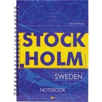 Блокнот для записів Stockholm  А5, 96л. (бічна спіраль) 8032-08-A