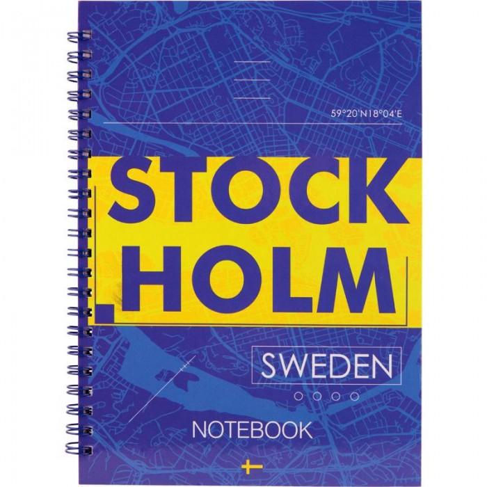 Блокнот для записей Stockholm  А5, 96л. (боковая спираль) 8032-08-A