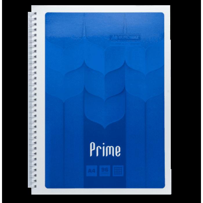 Зошит на пружині Prime А4, 96арк. (бічна спіраль) клітинка, синій BM.24451101-02