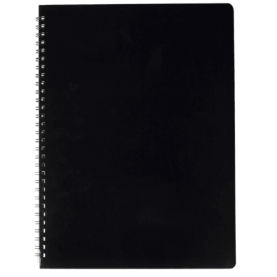 Зошит для записів Gloss А4, 80арк. клітинка (чорний)