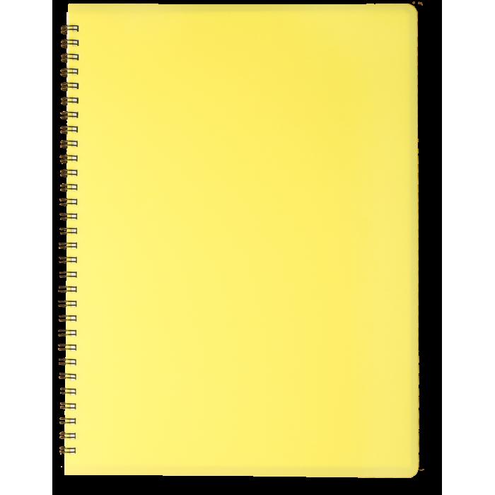 Тетрадь для записей Gloss А4, 80л. клетка (желтый)